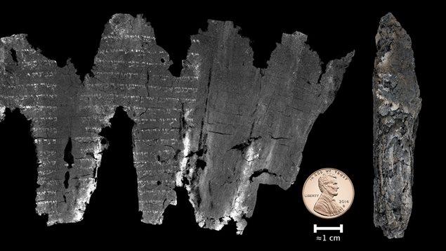 Le manuscrit et l'image reproduite de son contenu.