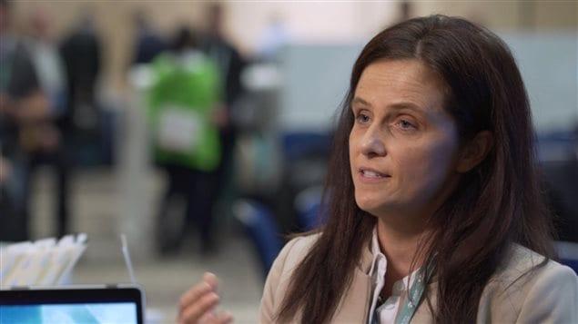 Naima Levert a présenté à Moscou son application pour le covoiturage.
