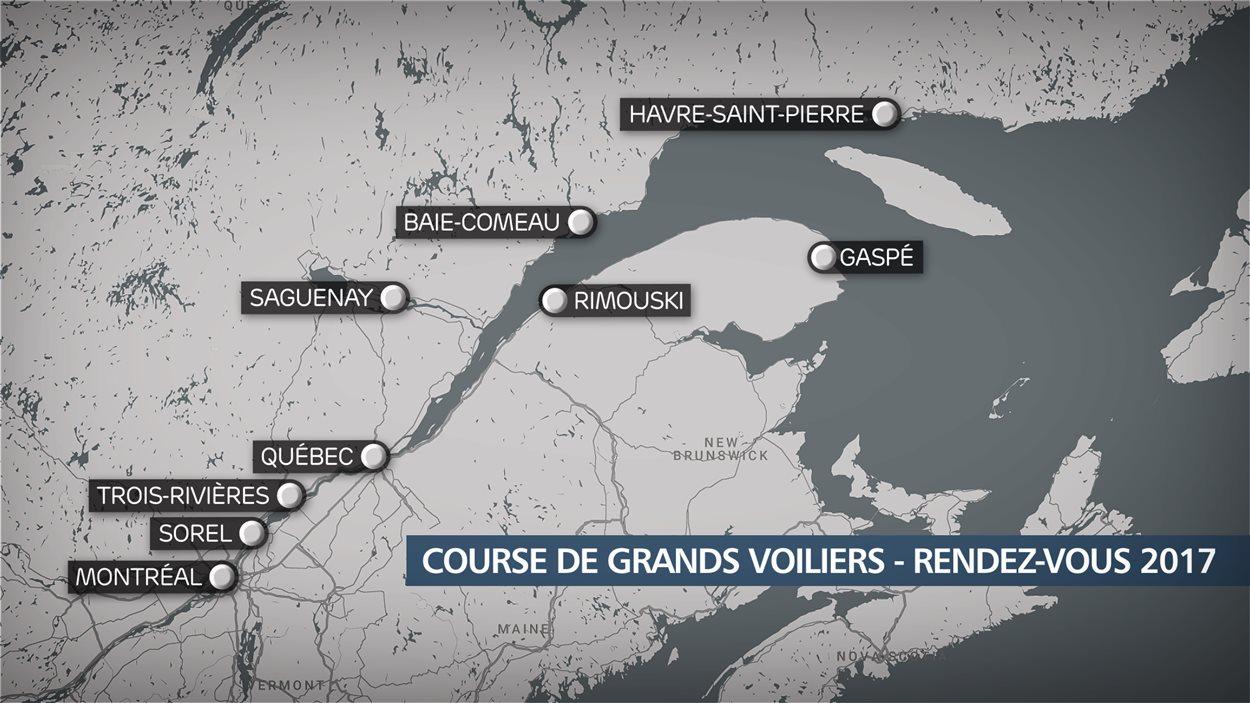Quelques arrêts prévus au Québec pour le Rendez-Vous 2017.