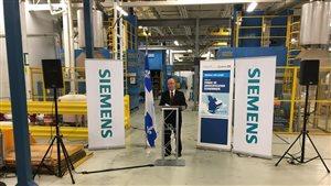 Siemens reçoit une aide du fonds de diversification économique du Centre-du-Québec et de la Mauricie.