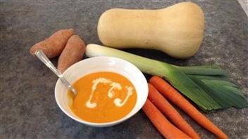 Vos meilleures recettes franco-manitobaines : soupe à la courge butternut
