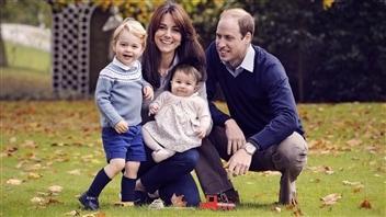 Le Prince William, sa femme Kate Middleton ainsi que leurs deux enfants, George et Charlotte.