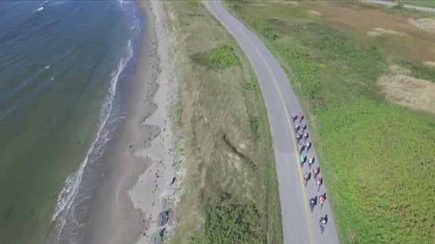 L'itinéraire du Gran Fondo offre des points de vue à couper le souffle sur la baie Sainte-Marie.