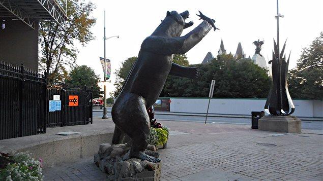 La statue «Territorial Prerogative», à Ottawa