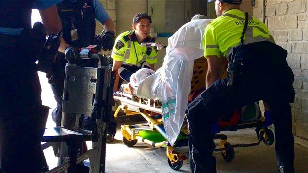 La comparution du suspect, Daniel Lalonde, a été suspendue pour des raisons médicales au palais de justice de L'Orignal vendredi.