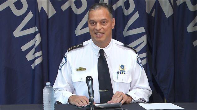 Le chef de police du SPVM, Philippe Pichet