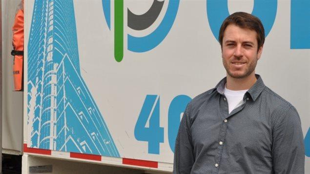 Le patron de BluPLanet Recycling, Devin Goss.