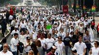 Manifestation contre la légalisation du mariage gai à Mexico, le 24 septembre 2016.
