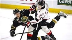 Les Blackhawks s'entendent avec l'attaquant québécois Alexandre Fortin