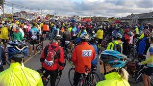 Plus de 800 cyclistes ont participés au Gran Fondo de la Baie Sainte-Marie dimanche