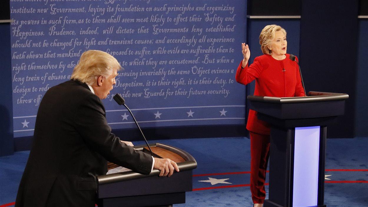 Donald Trump et Hillary Clinton durant le débat