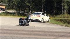 Grave accident de la route à Laterrière