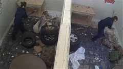 Libérer son côté destructeur dans une«smash room» à Edmonton