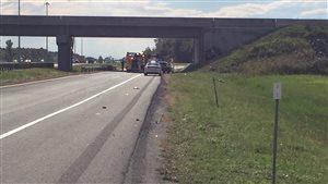 Accident sur l'autoroute 20