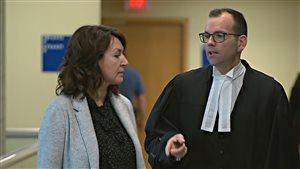 Nathalie Normandeau et son avocat Me Maxime Roy
