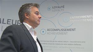 Le président et fondateur de H2O innovation, Frédéric Dugré a des idées de grandeur.