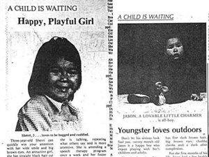 Articles faisant la promotion d'adoption d'enfants autochtones