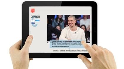 En simultané : sondages, vidéos et infos, le dimanche durant la diffusion