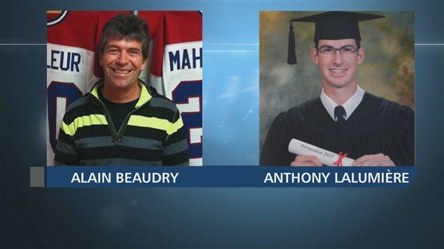 Alain Beaudry et Anthony Lalumière, retrouvés morts dans une fosse à purin