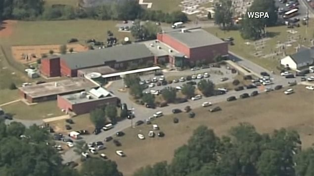 L'école où les deux enfants ont été blessés.