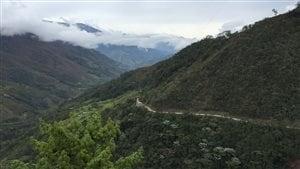 Les montagnes du Cauca, en Colombie