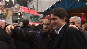 Égoportrait avec le premier ministre Justin Trudeau, le 18 décembre 2015