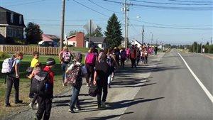 Les élèves de l'école primaire Notre-Dame de l'Assomption du secteur Vassan, à Val-d'Or, ont participé à la Journée Terry Fox.