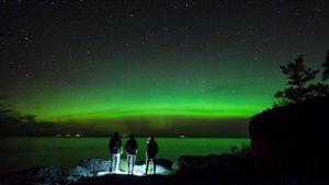Aurores boreales à Bic, près de Rimouski