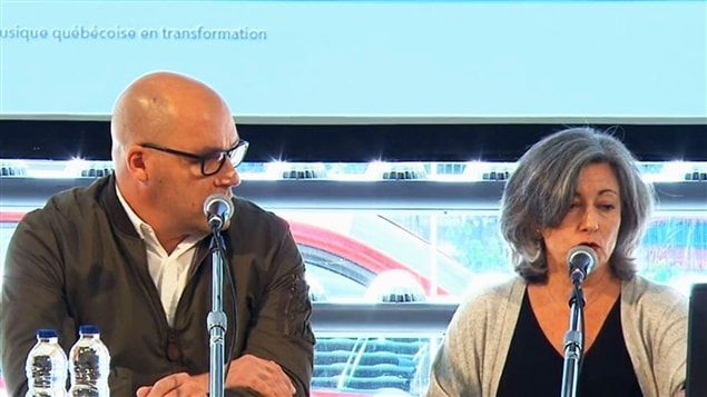 Claude Larivée et Solange Drouin, de l'ADISQ