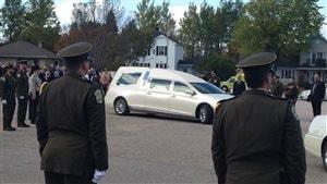 Les funérailles de l'agent Jacques Ostigny