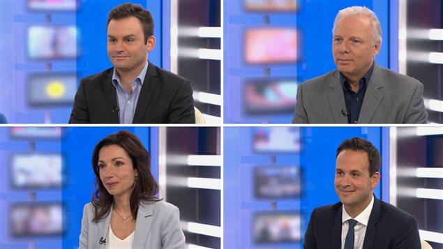 Paul St-Pierre Plamondon, Jean-François Lisée, Martine Ouellet et Alexandre Cloutier