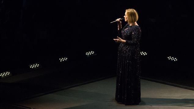 La chanteuse Adele en spectacle à Montréal, le 30 septembre 2016.
