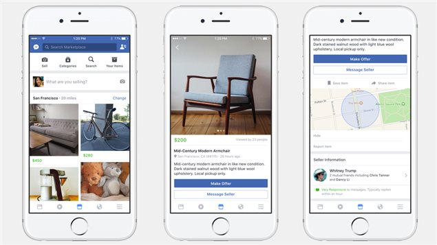 La fonctionnalité Facebook Marketplace