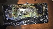 L'un des nombreux téléphones Galaxy Note 7 de marque Samsung dont les batteries ont explosé