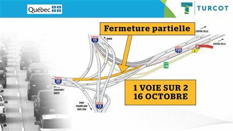 Première embûche, la réduction à une seule voie de la bretelle entre l'autoroute 20 et l'autoroute 720 est