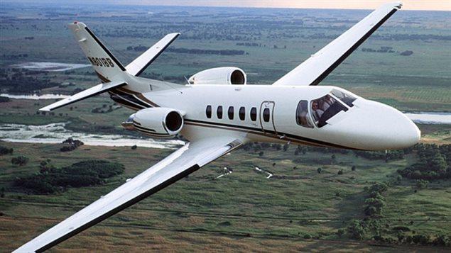 Un avion bimoteur Cessna Citation.