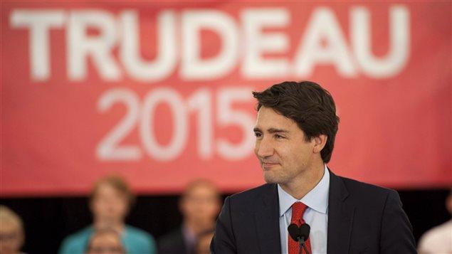 Justin Trudeau lors de la campagne électorale de 2015