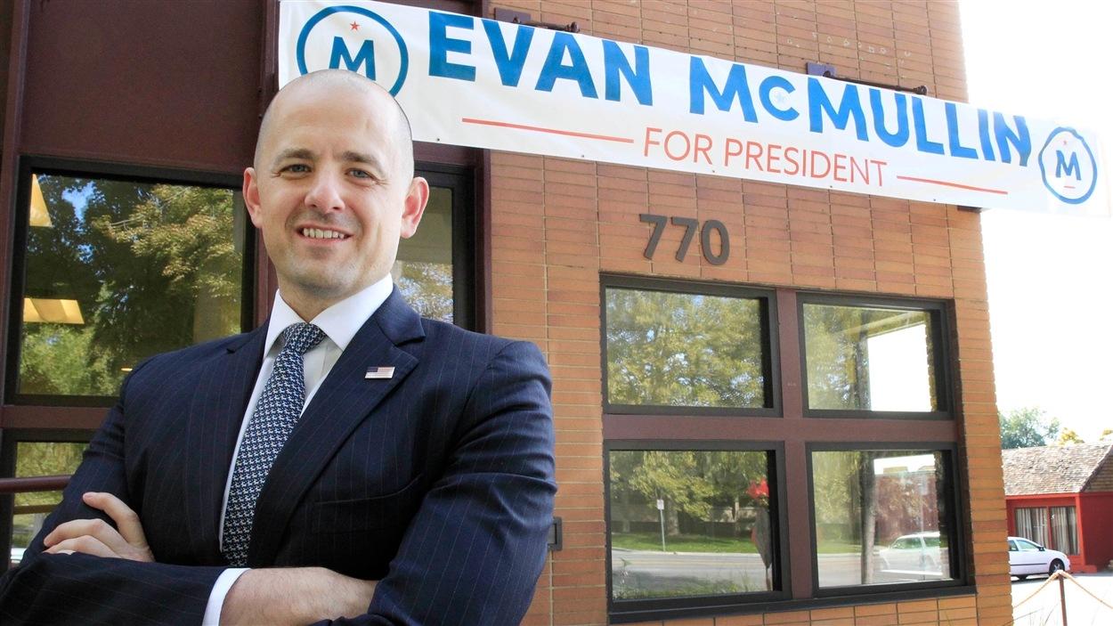 Evan McMullin, candidat indépendant à la présidentielle américaine de 2016