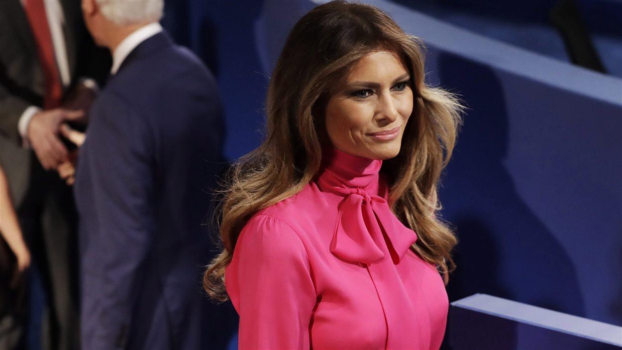 Melania Trump lors du deuxième débat présidentiel le 9 octobre dernier