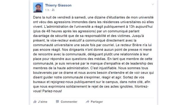 Intrusions aux résidences de l'Université Laval: la police poursuit son enquête