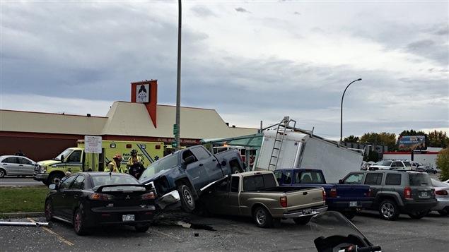 L'accident s'est produit sur le boulevard Gréber, entre les rues Lafortune et Saint-Louis.