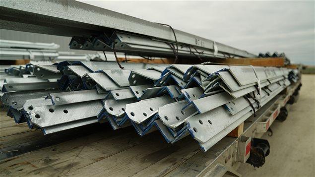 Jyoti Americas manufacturait des pièces en acier pour Hydro-Manitoba dans le cadre du projet de ligne de transmission Bipole III.