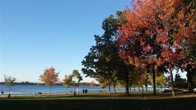 Au bord du lac Ontario à Toronto