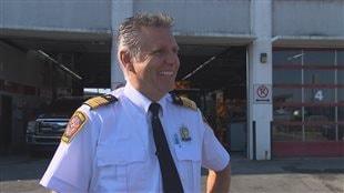 Serge Collins, directeur par intérim du Service incendie de Magog