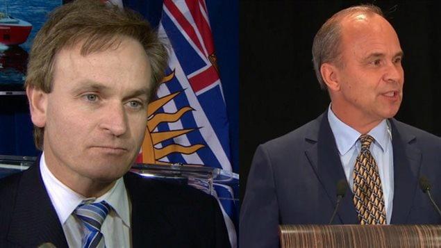 Andrew Saxton, à gauche, et Rick Petersen, à droite, souhaitent devenir le nouveau chef du Parti conservateur.