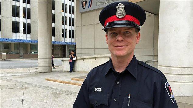 Andrew Drouillard, porte-parole de la police de Windsor