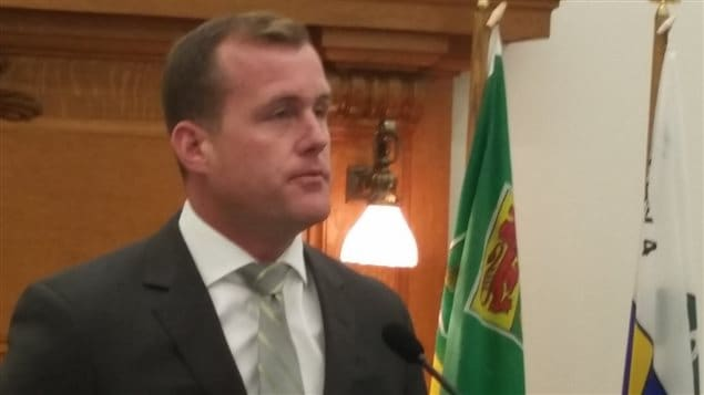 Le chef de l'opposition néo-démocrate Trent Wotherspoon.