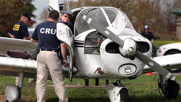 Un petit avion de type Piper PA-28 similaire à celui qui s'est écrasé en Pennsylvanie