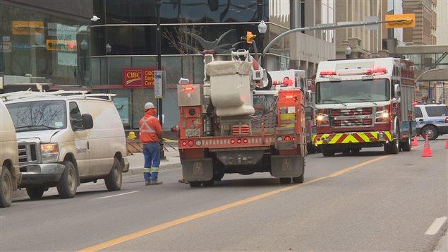 SaskPower, SaskEnergy, la police ainsi que les pompiers étaient sur les lieux d'un incident impliquant du gaz naturel mardi matin à Regina