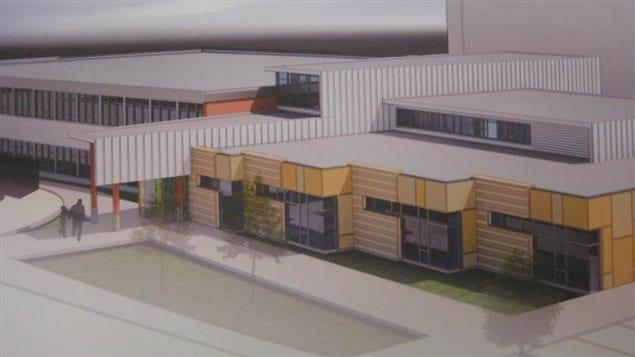 Un plan de l'École Gravelbourg School